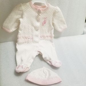 PINK AND WHITE PREEMIE BALLERINA OUTFIT